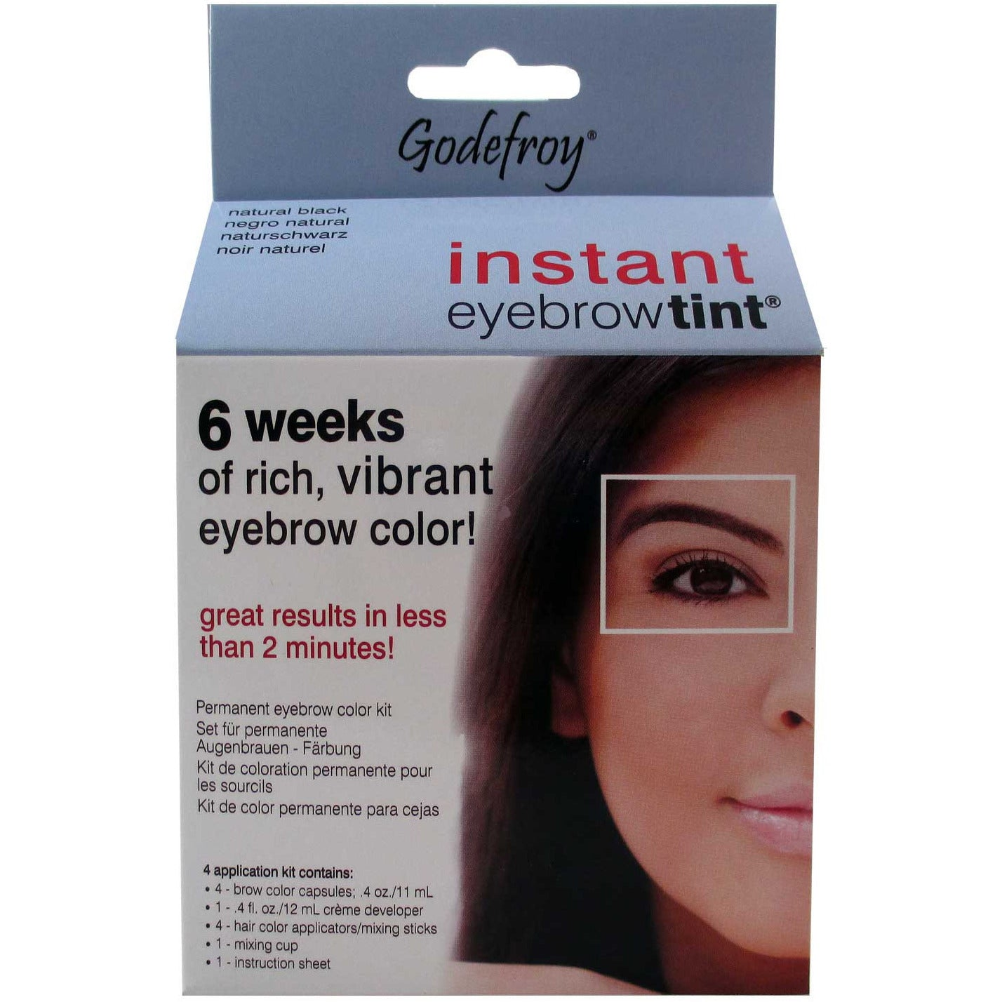 Godefroy INSTANT EYEBROW TINT permanent eyebrow color kit ...
