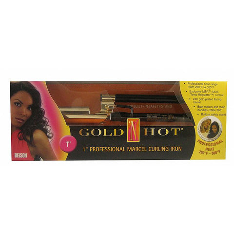 Goldn Hot MARCEL Grip Professional Curling Iron