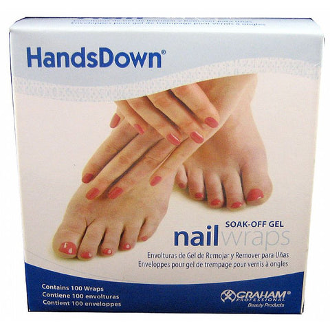 Graham Soak Off Gel Nail Wraps 100 Wraps #60906
