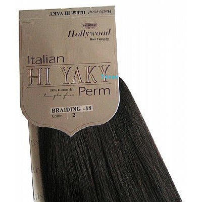 Hollywood HI YAKY Perm BRAIDING human hair - 18inch