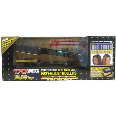 Hot Tools 170watt Flat Iron with easy glide rollers - Model 1198