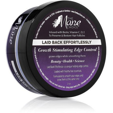 The MANE Choice LAID BACK EFFORTLESSLY - Growth Stimulating Edge Control - 2oz jar