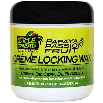 Irie Dread Papaya and Passion Fruit Creme Locking Wax - 6oz