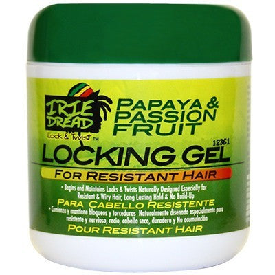 Irie Dread Papaya and Passion Fruit Locking Gel For Resistant Hair - 6oz
