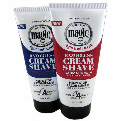Magic Cream Shave Razorless Beard Remover - 6oz tube