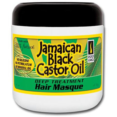 Doo Gro JAMAICAN BLACK CASTOR OIL DEEP TREATMENT HAIR MASQUE - 6oz jar