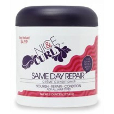 Nice and Curly SAME DAY REPAIR Creme Conditioner - 6oz jar