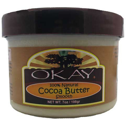 Okay Cocoa Butter Smooth 100% natural - 7oz jar