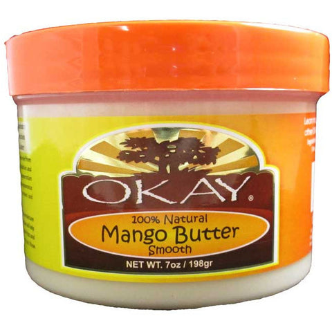 Okay Mango Butter Smooth 100% natural - 7oz jar