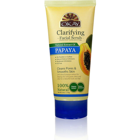 OKAY Clarifying Papaya Facial Scrub - 6 oz tube