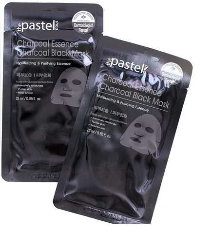 The Pastel Shop Charcoal Essence Charcoal Black Mask (single pack) - DERMATOLOGIST TESTED