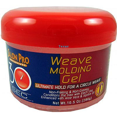 Salon Pro 30 Second WEAVE MOLDING GEL - 10.5oz jar