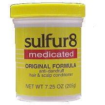 sulfur8 medicated ORIGINAL FORMULA scalp conditioner - 7.25 oz - yellow jar