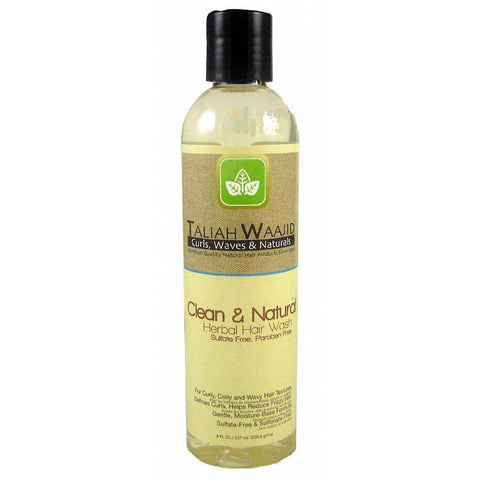 Taliah Waajid Clean and Natural Herbal Hair Wash - 8oz bottle