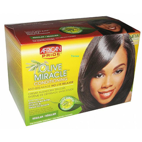 African Pride Miracle Deep Conditioning No-Lye Relaxer System Kit