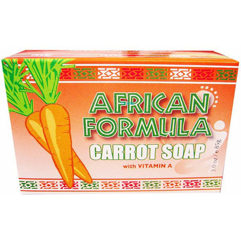 African Formula CARROT SOAP - 3oz orange box