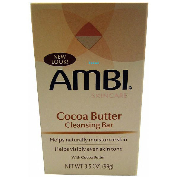 Ambi Cocoa Butter Cleansing Bar 3.5 oz (Pack of 3) 2 in 1 Fusion Facial Sheet Mask Pomegranate & Cranberry - 1 Count by The Creme Shop (pack of 3)