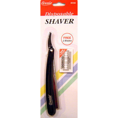 Annie Disposable Shaver - Straight Razor with 2 free razor blades