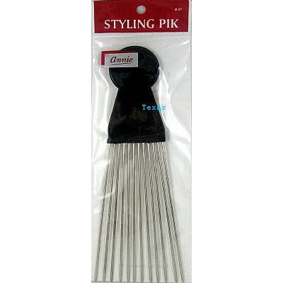 Annie Afro STYLING PIK - long 4.5inch metal picks #47