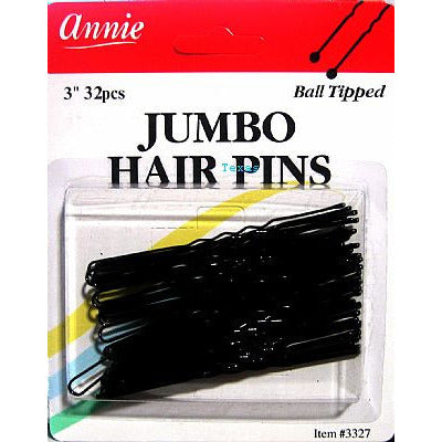 Annie Hair Pins - JUMBO 3inch - ball tipped hair pins - 32count - #3327