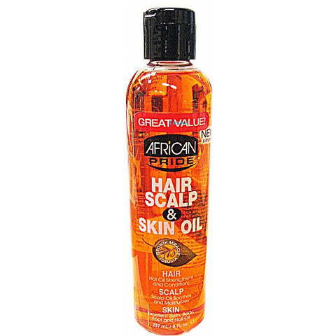 African Pride HAIR SCALP & SKIN OIL - 8oz bottle