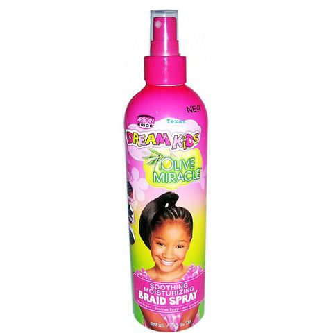 African Pride DREAM KIDS OLIVE MIRACLE Braid Spray - 12oz spray