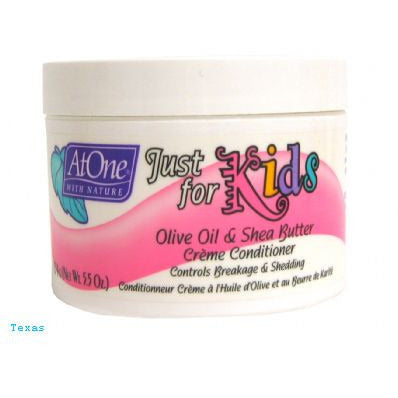 At One KIDS Olive Oil & Shea Butter Creme Conditioner - 5.5oz jar