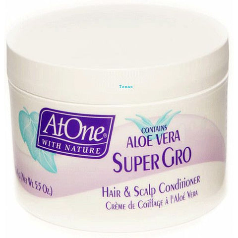 At One with Nature Super Gro Hair & Scalp Conditioner - 5.5oz jar