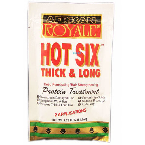 African Royale Hot Six Thick and Long Protein Treatment - 1.75oz pack