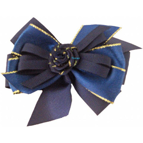 Hair Bow - cloth hairbow with gold edge ribbon # EL1241B