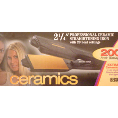 Goldn Hot Ceramics 2-1/4inch Straightening Iron with 20 heat settings - Model GH2145