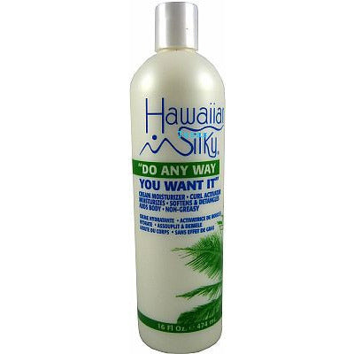 Hawaiian Silky CREAM MOISTURIZER CURL ACTIVATOR - 16oz bottle