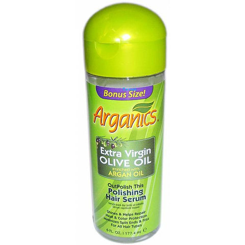 Arganics Polishing Hair Serum - 6oz bottle
