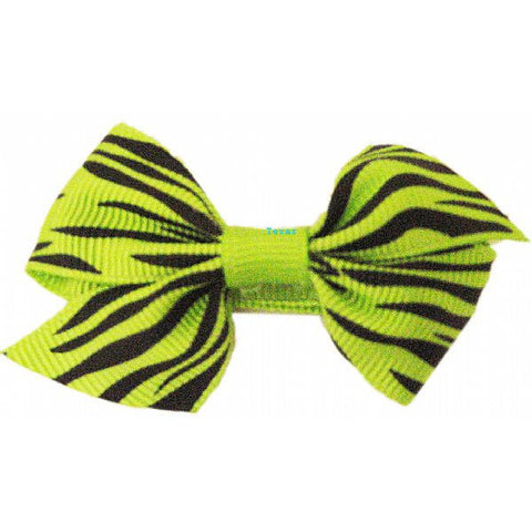 Hair Bow - small hairbow with black zebra stripe