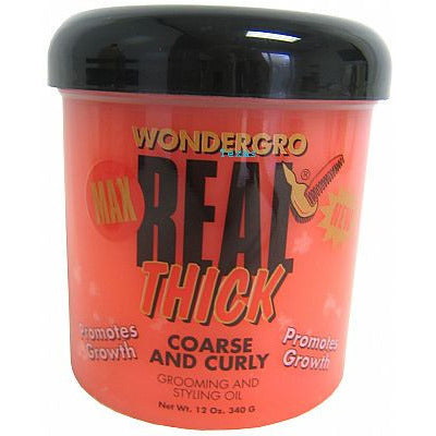 Wonder Gro Max REAL THICK for Coarse and Curly - 12oz  jar(orange)