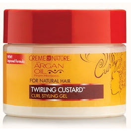 Creme Of Nature Argan Oil Twirling Custard Curl Styling Gel - 11.5oz