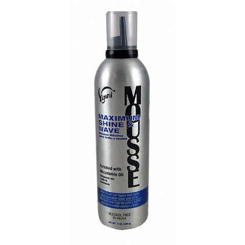 Vigorol Maximum Shine and Wave Mousse - 12oz mousse