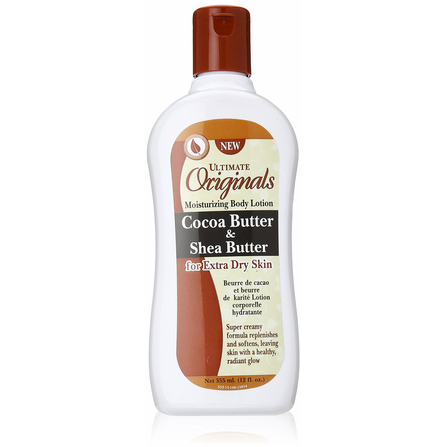 Ultimate Originals Cocoa Butter and Shea Butter Moisturizing BODY LOTION - 12oz bottle