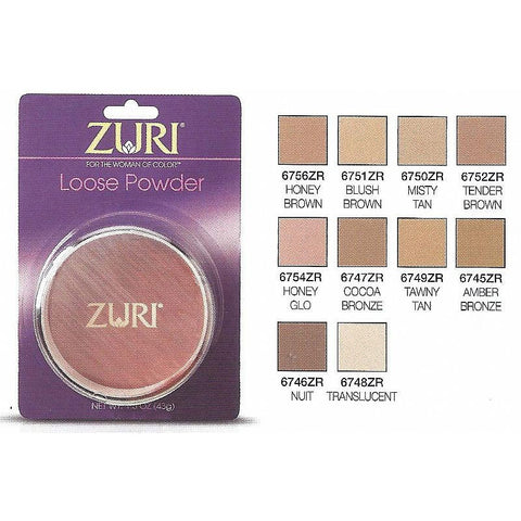 Zuri LOOSE Powder cosmetic - 1.5oz compact - 3 PACK