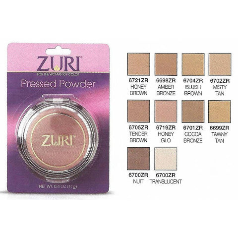 Zuri PRESSED Powder cosmetic - 0.4oz compact - 3 PACK