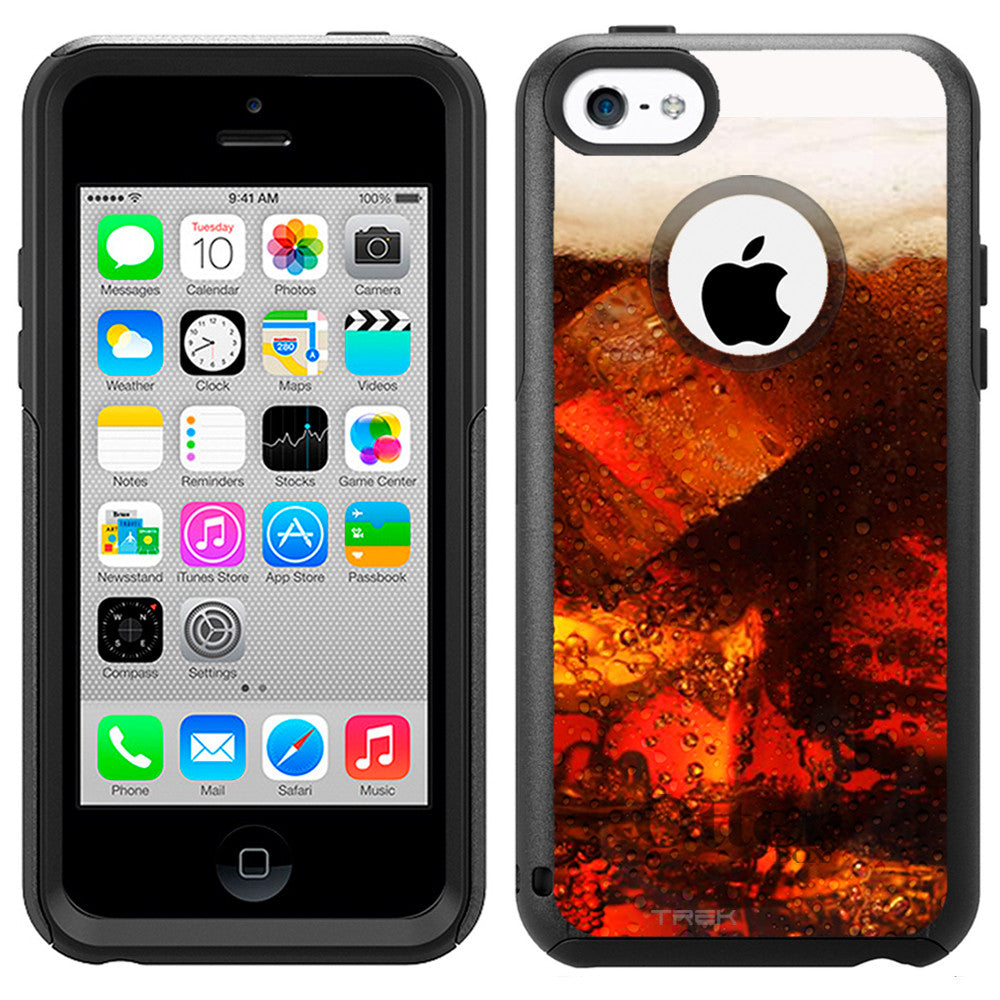 Apple iPhone 5C Glass Root-Beer Soda Otterbox Commuter Case