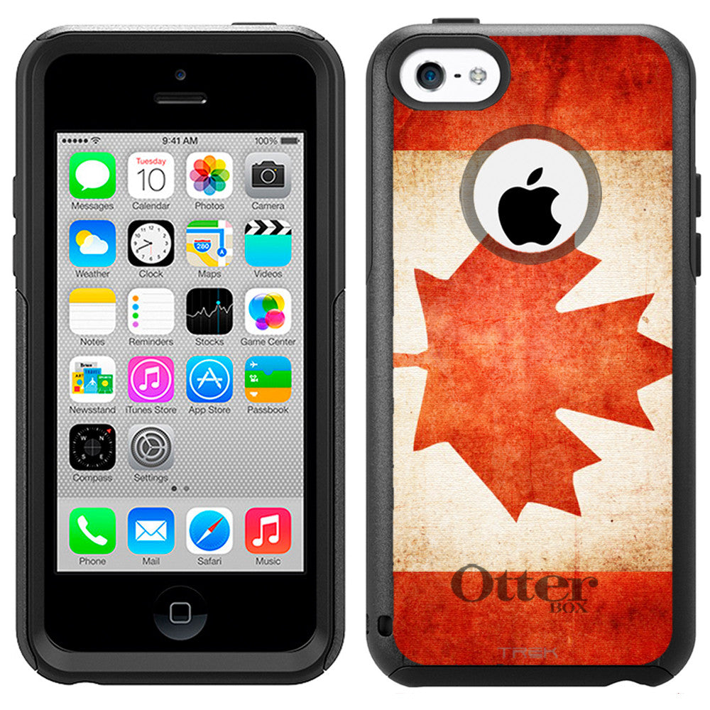 Apple iPhone 5C Canada Vintage Flag Otterbox Commuter Case