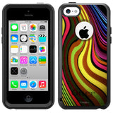 Apple iPhone 5C Abstract Swirled Color Otterbox Commuter Case