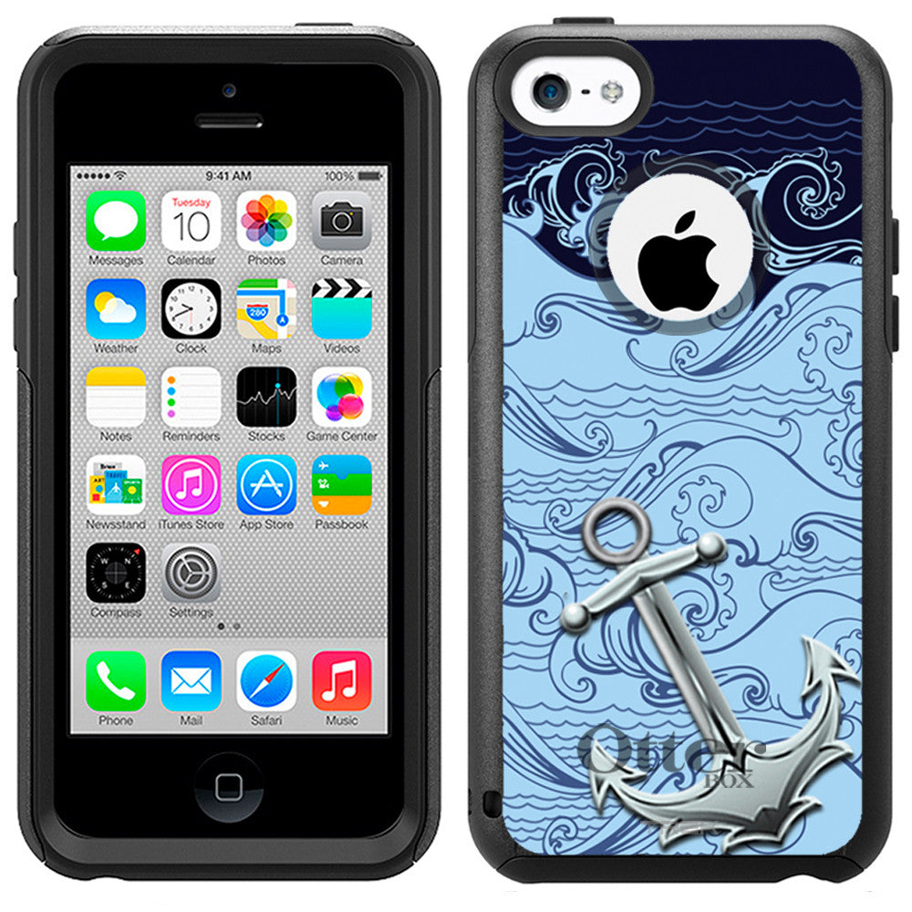 Apple iPhone 5C Anchor on Strong Waves Sea Otterbox Commuter Case