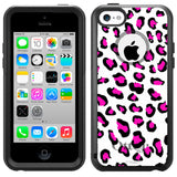 Apple iPhone 5C Pink Leopard Otterbox Commuter Case