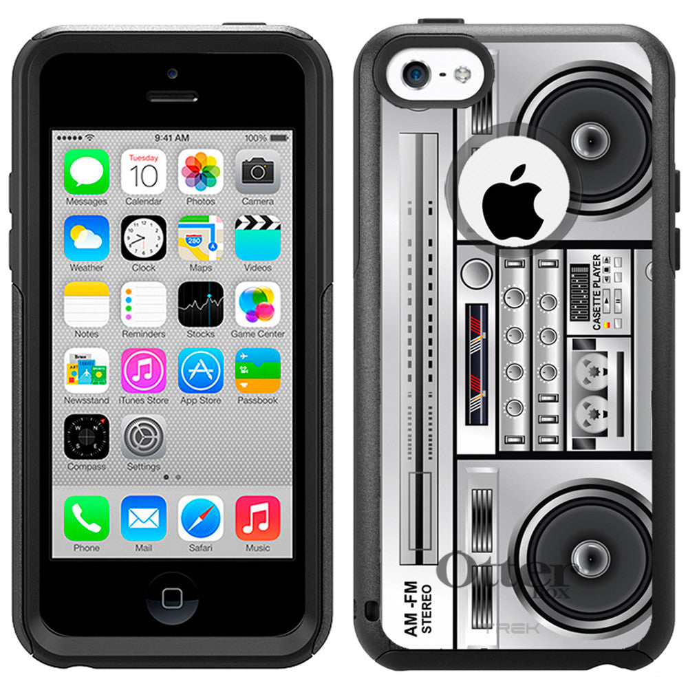 Apple iPhone 5C Retro Boom Box Otterbox Commuter Case