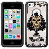 Apple iPhone 5C Ace of Spades Skull Otterbox Commuter Case