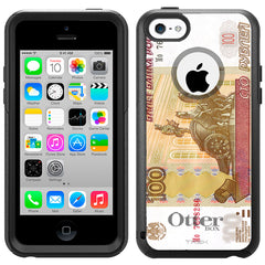 Apple iPhone 5C 100 Rubles Note Russian Otterbox Commuter Case