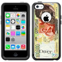 Apple iPhone 5C 100000 Centomila Lire Italy Banknote Otterbox Commuter Case