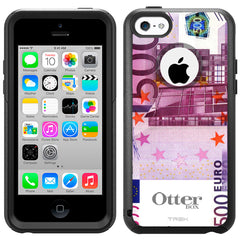 Apple iPhone 5C 500 EURO Banknote Otterbox Commuter Case